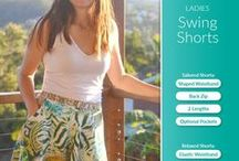 Ladies Swing Shorts PDF Pattern / http://www.patternemporium.com/product/ladies-swing-shorts-pdf-pattern Swing Shorts Circle Shorts Skater Shorts