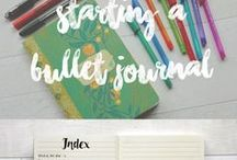 Bullet Journaling / Time to be creative with your Bullet Journal!
