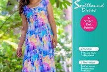 Ladies Spellbound Dress Sewing Pattern / Ladies Spellbound Dress. Stretch knit sewing pattern. Mini, Midi, Maxi. Scoop or High Neck. Sleeveless, Cap Sleeve or Flutter.