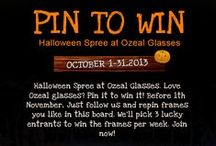 Pin To Win / Halloween Spree at Ozeal Glasses.  Love Ozeal glasses? Pin it to win it!  Before 1th November, Just follow us and repin frames you like in this board. We'll pick 3 lucky entrants to win the frames per week. Join now! ( US, UK only)