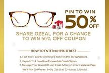 Christmas Pin To Win / PIN TO WIN 50%FF COUPON!!! How to enter: 1. Find Your Favorite One Style From This PIN TO WIN Board. 2. Repin It To A New Board Named As Ozeal Glasses.	 3. Message Your Board URL and Email Address To Our     Facebook Page. We'll Pick 20 Winners Every Day Until Christmas. (US and UK Only)