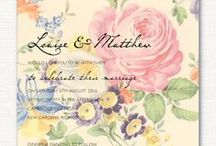 English Country Garden Wedding Theme  / Ivy Ellen wedding stationery designs to suit a English Country Garden wedding theme