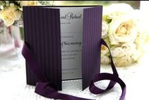 Purple Wedding Colour Scheme / Ivy Ellen Wedding Stationery to suit a purple wedding colour scheme