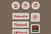 Social Media Icon / Social media icons for use on your website or blog so that you can stay connected with your readers. Having social media icons that are easy to read, match you web design, and are visible at the top of your website or blog is crucial!