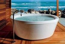 Bathe / Therapy in a wash bin.