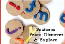 LEARN - Alphabet / Alphabet inspiration and diy for Kids