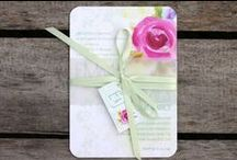 Belly Band Invitations / Belly Bands are a great way to keep pieces together in a stylish way