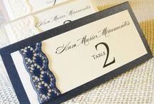 Place Cards & Table Numbers / Looking for a unique way to display your place cards and direct guests to their seats? Gather inspiration for your own wedding here!