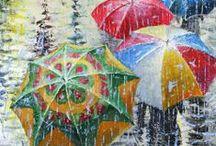 ΟMΠΡΕΛΛΑ στη ΒΡΟΧΗ!!!! / umbrella in rain!!!