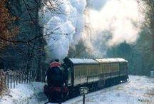 Το ΤΡΕΝΟ περνά--Τhe  train passes..... / Όμορφες εικόνες με τρένα.............επειδή το ταξίδι είναι η ομορφιά!