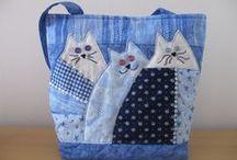 Šití tašek, kabelek,zástěr, polštářků aj. / Ze starého nové-recyklace