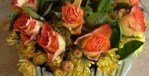 Živé květiny-vazba / Dekorativní vazba