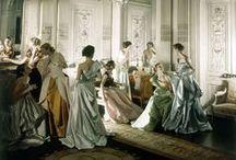 La Salle de Bal / Corseted ball gowns, A-line skirt.