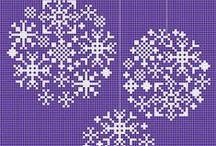 Křížková výšivka - vánoce / vyšívání křížkem