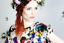 Uhana Design SS16 collection / Flower patterns, knitwear, laser cut jewellery from Uhana Design SS16 collection.