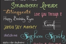 Handwriting and fonts / by Beckie Palmer