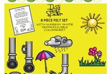 Felt Nursery Rhymes / Famous Nursery Rhymes Felt Board Stories by Playtime Felts