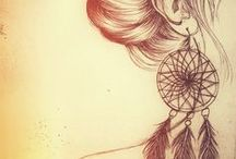 Dreamcatcher / Hanging by the window, the dream catcher waits, to catch me a dream, that's hopefully great.