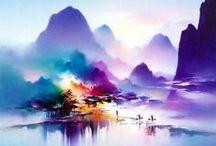 Акварель, пастель, акрил... / Цвета жизни, искусство, краски - мир!
