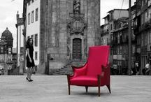 Sensuality | Armchair / Just like a naked stripped body of a charming lady. 'Sensuality' fully embodies every adjective that describes Bat eye ®, highlighting the elegance, art and design featuring the nerve and the friendliness of Porto, while made with materials whose premium quality and tradition speak of the city's inhabitants. Noble wood and a subtle cotton and silk tissue.