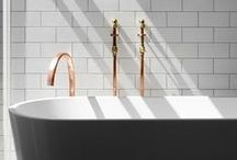 PINSPIRATION: Magnificent Metals / Add a touch of industrial metal to your bathroom with these ideas which are right on trend.