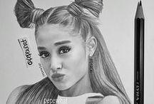 Ariana Grande draws
