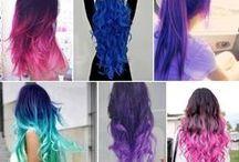 Oh My Hair / Undercuts, shaved sides, designs, mermaid hair, colorful hair, bright hair, bobs, lobs, mohawks, fauxhawks, glitter hair, buns, messy buns, grunge...we heart hair!