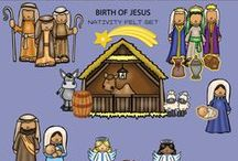 Bible Felts | Birth of Jesus / Birth of Jesus Felt Board Story Sets available at Playtime Felts.