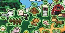 Habitats | Farm Babies / Fun Farm Animal Crafts, Activities and Felt Sets.