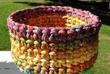 Canastas y alfombras crochet / Crochet Boxes, Bolws, Baskets