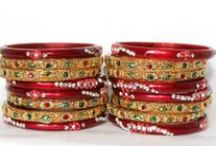 Bangles / Bangles are part of traditional Indian jewellery. They are usually worn in pairs by women, one or more on each arm. Most Indian women prefer wearing either gold or glass bangles or combination of both. Inexpensive bangles made from plastic are slowly replacing those made by glass, but the ones made of glass are still preferred at traditional occasions such as marriages and on festivals.