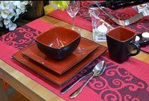 Japoński Ogród / Stylizacje stołów wykonane w japońskim stylu i kolorystyce. Produkty użyte w stylizacji znaleźć można na www.ewaija.pl