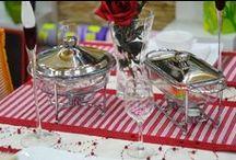 Romantic / Romantyczna stylizacja stołu w sam raz na kolację dla dwojga...