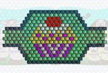 Anillos Marsa / Esquemas y patrones para hacer bisutería con delicas, mostacillas, rocallas...