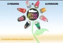 Personaliza tus zapatillas con los colores de moda. / AllYourColors, la mejor aplicación de customización de zapatillas del mundo. Entra en www.allyourcolors.com o descarga la app gratuita en http://bit.ly/1cdhtrB y diseña tus AYC exclusivas.