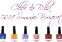 Summer 2014 Collection / Chloe & Bella's collection of six gorgeous nail polish shades is inspired by some of summer's most beautiful flowers.  Nature is our muse!