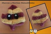 Needle felting, fieltreando con aguja