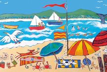 An Idyllic Australian Summer / Images from a range of beautiful blank Art Cards featuring a colourful variety of Australian summer scenes, published and distributed by Art Publishing, Australia.
