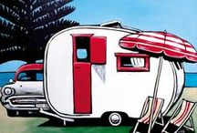 Classic Aussie Caravan Holidays / Justine McNamara's evocative classic caravans symbolise the family unit in a state of light-hearted high spirits, as they leave the worries and hassles of daily life behind. Cars and caravans become the vessels for freedom, happiness and simplicity – capturing some of life's most idyllic moments.