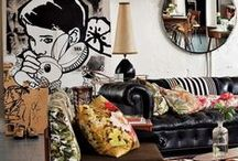 """Eclectic Home / """"If you wait until you have enough money to decorate and make your home your own, it will never happen. If you wait until you can afford to buy everything new, you are missing the point. It is the old, the new, the made, the hand-me-down, the collected, the worn (but loved) things in your home that make it your own."""" ~ Stacey Risenmay / by Cathy Patzlaff"""