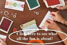 Let's Party! / Having a Stampin' Up! party is a lot of fun!  You and your guests will learn how to create projects and get to make one to take home with them.  There are many benefits of hosting a Stampin' Up! party that you can learn more about at http://brittnysmith.stampinup.net / by Brittny Smith Stampin' Up! Demonstrator