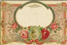 Frames, Labels & Journal Cards / Vintage images for scrapbooking, crafts, mixed media, altered art, decopauge and collage projects. **PLEASE SHARE NICELY** / by Cathy Patzlaff