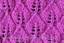 Knit Stitches / Stitch patterns for inspiration