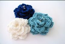 Crocheted Flowers & Leaves / Patterns for flowers and leaves