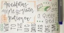    Bullet Journal    / Inspirations et tutos pour créer son propre bullet journal - mise en page - monthly log - daily log - tracker