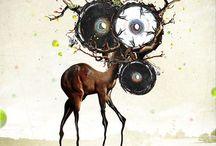 art <3 / Modern art, new art, tattoo art, manga art, skeching, drawing, street art. I love deer and modern portraits:)