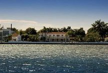 RECORD-HIGH SALE ~ Hibiscus Island Estate / Striking Wide Bay & City of Miami Beach Views ~  Incredible 38,500 SF Lot boasts 220 Ft of Water Frontage on Biscayne Bay | $14,300,000