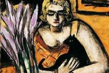 BECKMANN, MAX (de) *** / Max Beckmann (February 12, 1884 – December 28, 1950) was a German painter, draftsman, printmaker, sculptor, and writer. Although he is classified as an Expressionist artist, he rejected both the term and the movement. In the 1920s, he was associated with the New Objectivity (Neue Sachlichkeit), an outgrowth of Expressionism that opposed its introverted emotionalism.