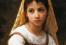 Bouguereau, William (fr) *** / William-Adolphe Bouguereau  (November 30, 1825 – August 19, 1905) was a French academic painter and traditionalist. His paintings, brought  goddesses, water carriers, nymphs, bathers, shepherdesses, and madonnas to life. In his genre paintings he used mythological themes, making modern interpretations of classical subjects, with an emphasis on the female body.