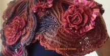 SHAWLS, WRAPES and SCARVES / hand crocheted unique items
